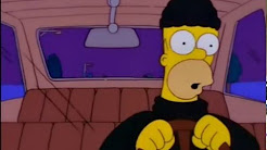 Homer Simpson Stealing a Car for Moe