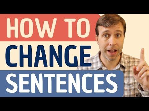 Key Word Transformation Quiz   How to change sentences?