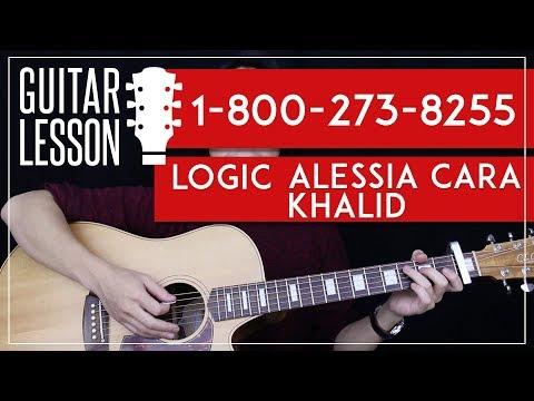 1-800-273-8255 Guitar Tutorial - Logic Feat. Alessia Cara Guitar Lesson |Easy Chords + Guitar Cover|
