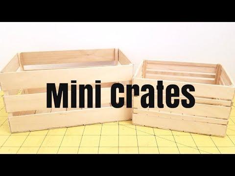 DIY Mini Crates   Nanda's Crafts