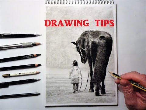 Drawing Tips and Techniques, How to Draw, Graphite, Charcoal and Carbon Pencils