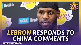Lakers Post Practice: LeBron Responds To China Comments, Focuses On Winning Championship