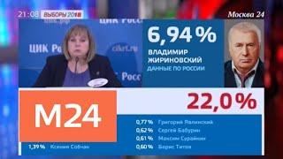Центризбирком озвучил предварительные итоги президентских выборов - Москва 24