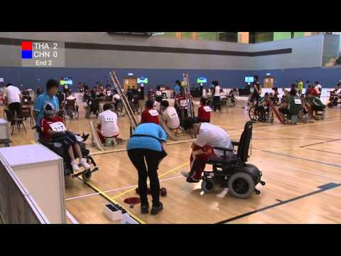 BISFed Asia and Oceania Boccia Team and Pairs Championships 2015 - Match replay (THAILAND VS CHINA)
