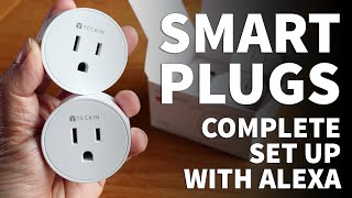 Teckin Smart Plugs Review and Set Up - Smart Life App Home Automation with Alexa Smart Plug