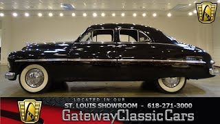 """Gateway classic cars of st. louis is proud to offer a 1949 mercury sport sedan. introduced mercury's first post-war redesign. the '49s featured """"pon..."""