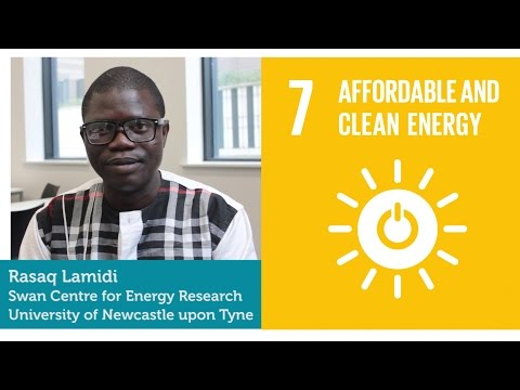 Global Academy; Global Goals. Rasaq Lamidi working on renewable energy