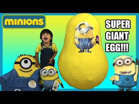 Thumbnail: GIANT EGG SURPRISE MINION from Despicable Me kids Video Ryan ToysReview