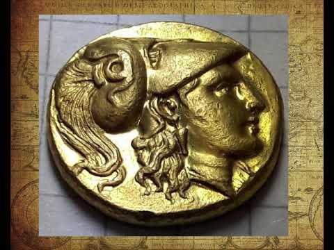 Coin Goldstater ca 328 - 323 v Chr Lampsakos золотая монета статер Александр Македонский нумизматика