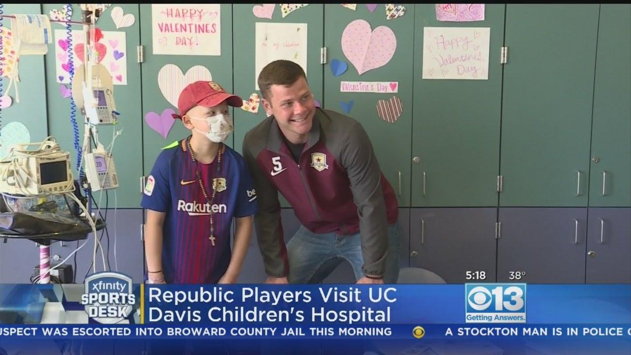 Republic FC Placers Visit Kids At UC Davis Children's Hospital