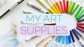 MY ART SUPPLIES & DRAWING MATERIALS 🎨 😁 CHEAP ART SUPPLIES (Crafty Nica)