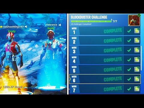 """NEW """"Blockbuster"""" SKIN UNLOCKED! Fortnite Week 7 Challenges COMPLETED! (Fortnite Battle Royale)"""