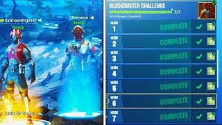 "NEW ""Blockbuster"" SKIN UNLOCKED! Fortnite Week 7 Challenges COMPLETED! (Fortnite Battle Royale)"