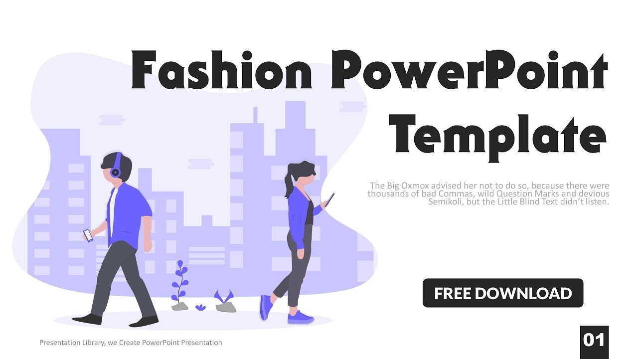 Fashion Powerpoint Template Free Download 2019 Youtube