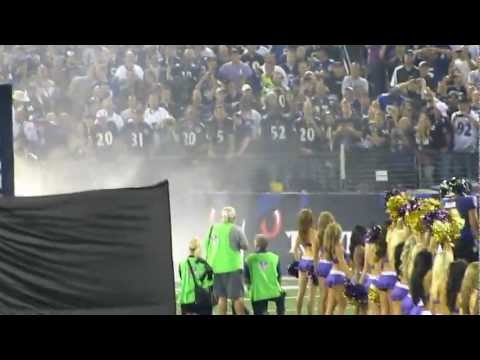 Michael Oher and Matt Birk comming out of the Tunnel at the Ravens game