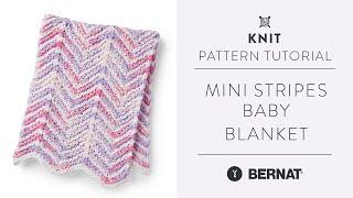 Easy Chevron Knit Baby Blanket Tutorial   With Chenille Yarn