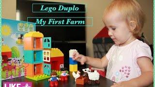 🐷🐮🐔 Lego Duplo My First Farm 10617 Unboxing and Building Обзор игрушки Моя первая ферма
