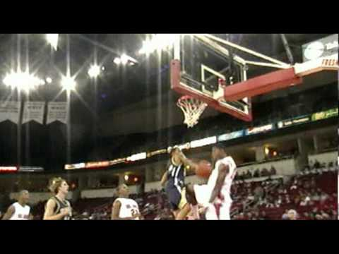Fresno State sophomore Paul George Throws a Dunk down with authority