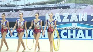 Сборная команда России - 5 обручей(многоборье) 22.400 WWC Kazan 2018