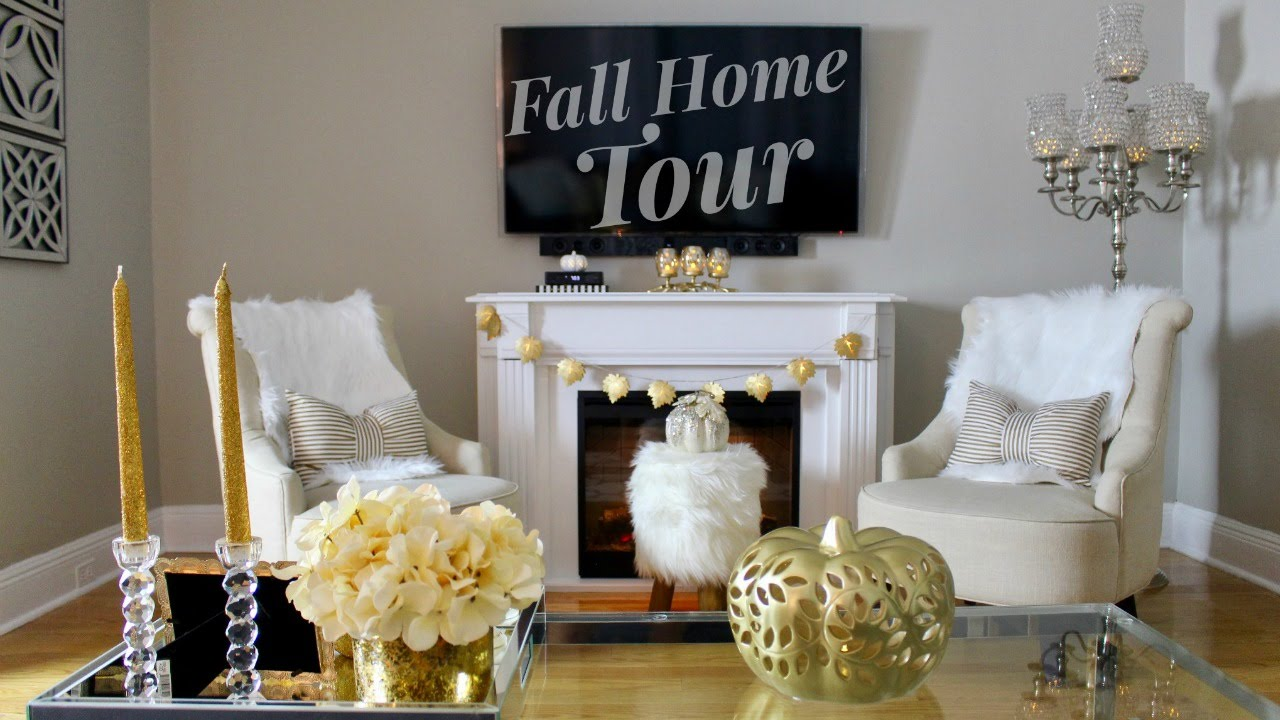 2018 Fall Living Dining Room Tour, Gold Dining Room Ideas