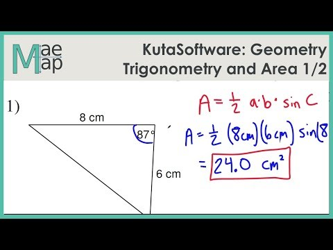 KutaSoftware: Geometry- Trigonometry And Area Part 1