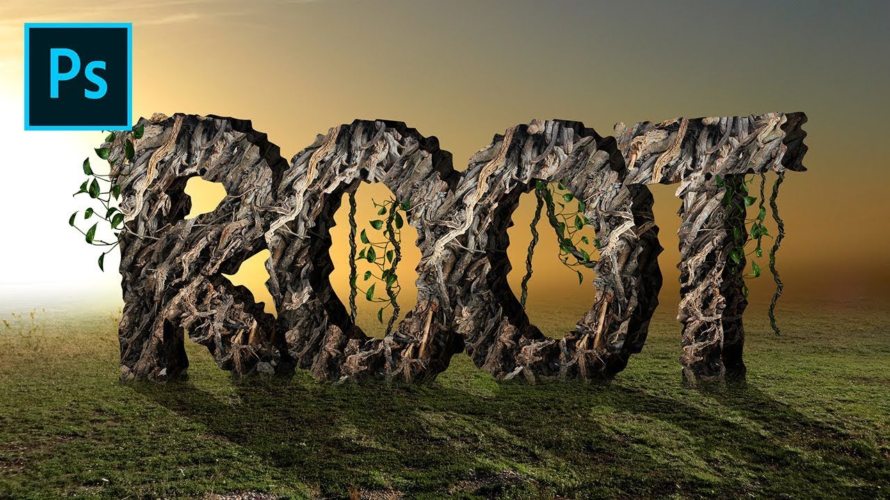 3d text effects roots texture photoshop tutorials youtube 3d text effects roots texture photoshop tutorials baditri Images