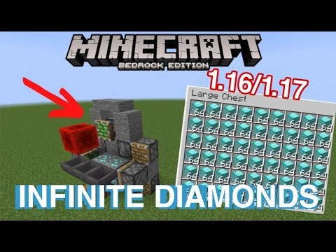 NEW INFINITE DIAMOND MACHINE! / ANY VERSION OF MINECRAFT MCPE / PS4 / SWITCH /XBOX/NEW/2021