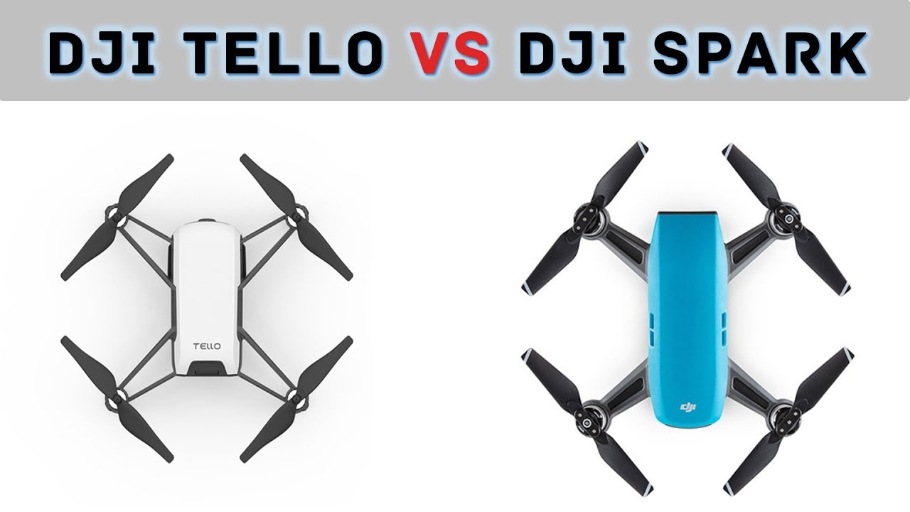 DJI Tello Vs Spark Full Comparison 2018 HD A 100 Drone