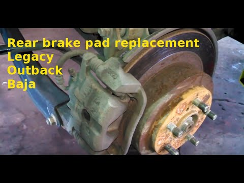 Rear brake pad replacement 2000 Subaru Outback Legacy 2000-2004 Replacing brake pads