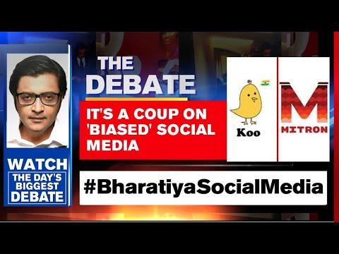 #BharatiyaSocialMedia: It's A Coup On 'Biased' Social Media   Arnab Goswami Debates