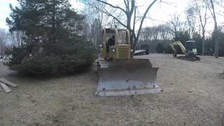 Coldstart link belt excavator and dresser dozer