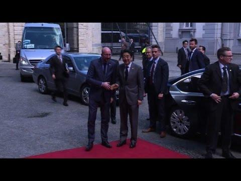 Japanese Prime Minister arrives in Brussels