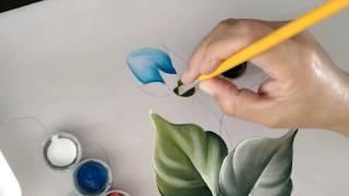 Pintura no Oxford – botões de rosas – Dicas de pintura em tecido