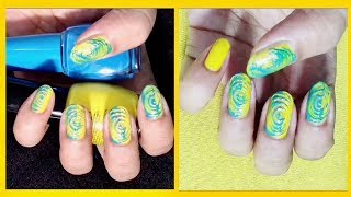 Swirl Nail Art Using A Pencil ✏️ | Easy To Do Tutorial