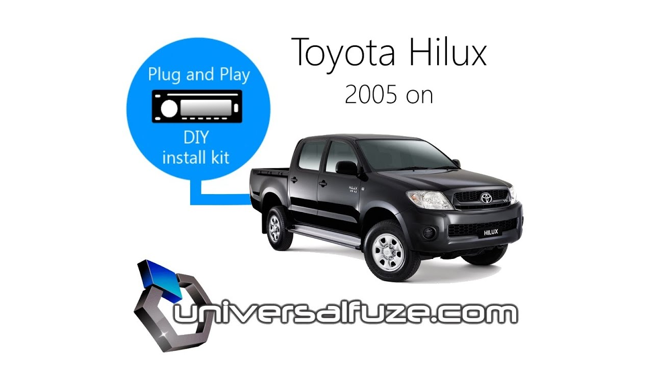 How To Install A Car Stereo Toyota Hilux Youtube Radio Wiring Diagram Further Pioneer
