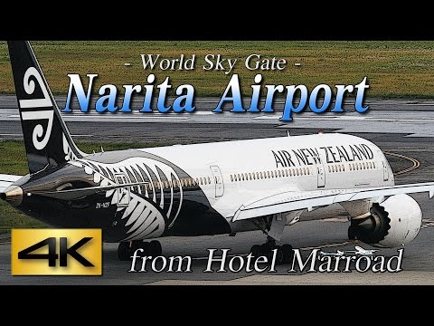 【4K】1Hour Spotting @Narita Marroad Hotel #3 June 12, 2015 the Amazing Airport Spotting