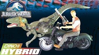 "Opening: OWEN ""Alpha"" & Velociraptor ""Blue"" Dino Hybrid Action Figure Toy Set! Jurassic World Toys"