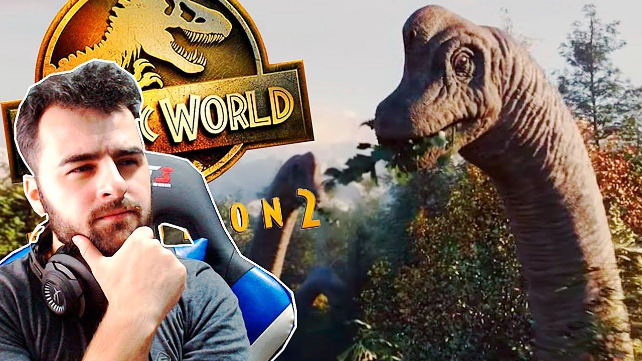 Jurassic World Evolution 2: Trailer | O Novo Parque dos Dinossauros | React / Análise | (PT/BR)