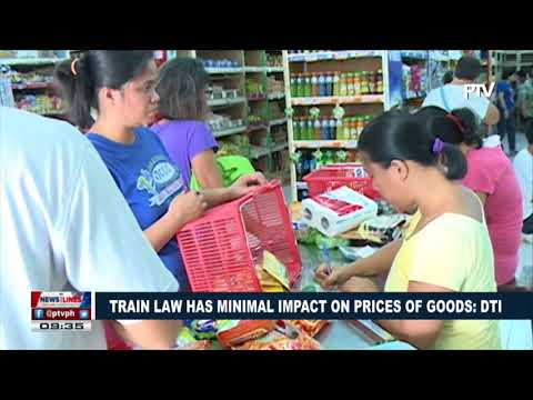 TRAIN law has minimal impact on prices of goods: DTI