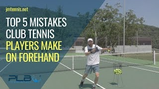 Top 5 Mistakes Club Tennis Players Make On Forehand I JM Tennis - Online Tennis Training Programs