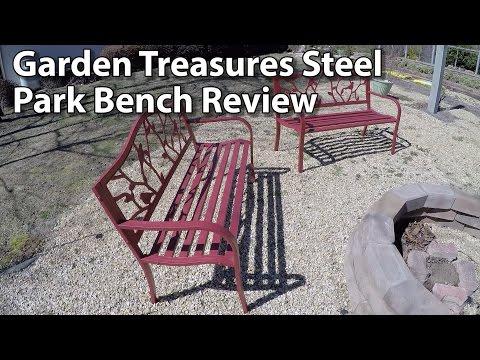 garden-treasures-steel-bird-park-bench-review