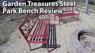 Garden Treasures Steel Bird Park Bench Review