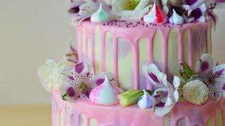 Как собрать двухъярусный торт и украсить живыми цветами(В этом видео я подробно рассказываю, как собрать двухъярусный торт, украсить его живыми цветами и цветными..., 2016-06-12T15:20:51.000Z)