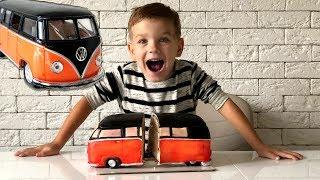 Превратил машину в торт и съел. Видео для детей.