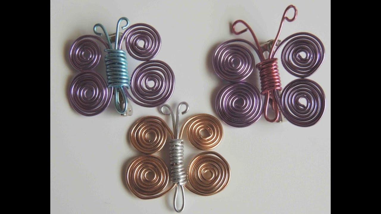Como hacer una mariposa con alambre butterfly wire youtube - Alambre de cobre ...