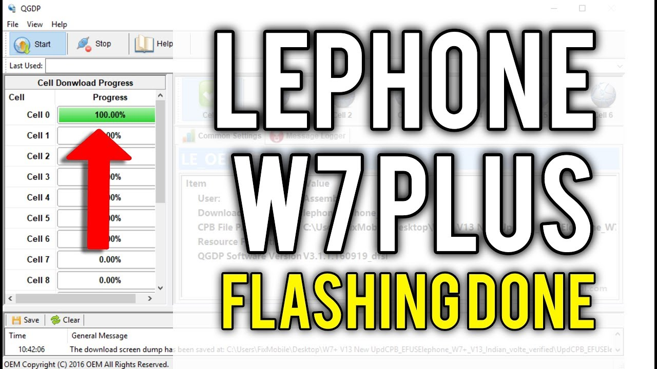 How to Flash Lephone W7 Plus with Flash tool