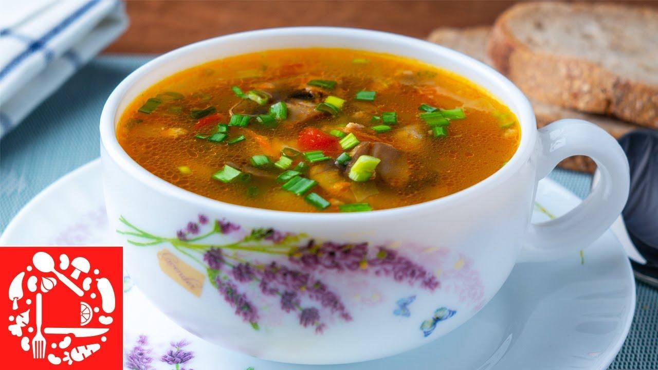 Рецепт супа с грибами и фаршем