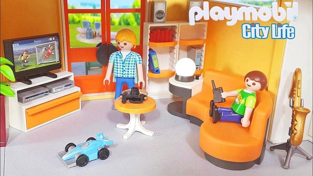 Playmobil wohnzimmer 9267 neu einrichten f r modernes for Wohnzimmer 9267