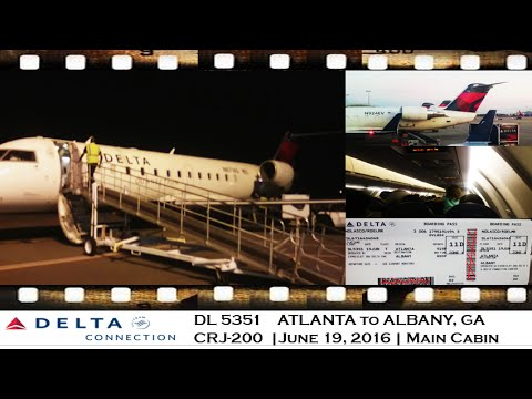 FLIGHT REVIEW DELTA CONNECTION DL 5351 ATLANTA to ALBANY, GA ON Bombardier CRJ200