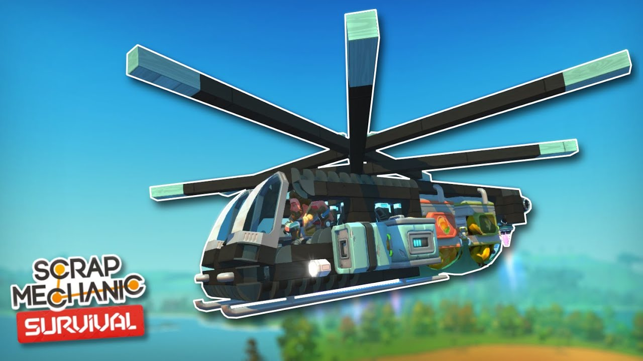 Download A Survival Helicopter for Crate Transportation! - Scrap Mechanic Survival Mode #32